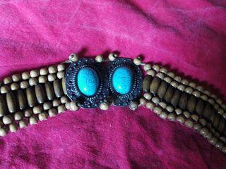 Cinturon de verano con perlas y piedras
