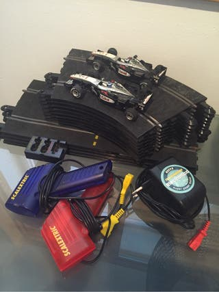 Scalextric 2 coches F1 + pistas 30€!!