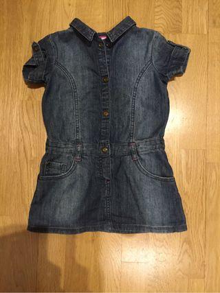 Vestido tejano talla 18/24 meses