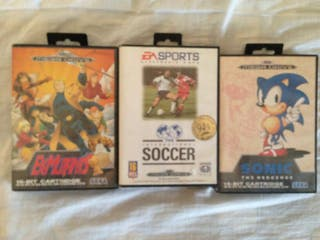 Pack 3 Juegos Mega Drive Completos!!