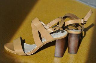 Zara, nuevas sandalias de piel, t.40