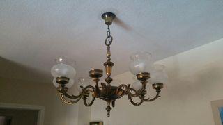 Lámpara de cobre de 8 brazos