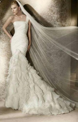 vestido de novia de marca de segunda mano en terrassa en wallapop