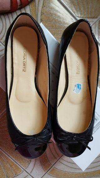 Zapatos Manoletinas de piel Gloria Ortiz