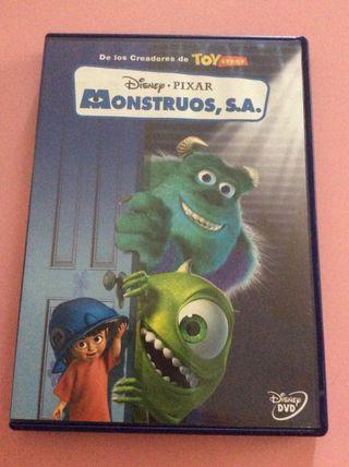 MONSTRUOS S.A. DVD