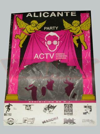 Póster de la discoteca ACTV años 90