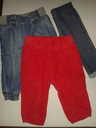 3 Pantalones BEBE ZARA NUEVOS!!
