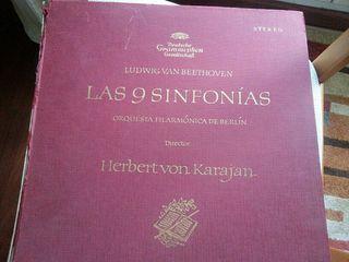 Colección en disco vinilo de las 9 sinfonias de Beethoven