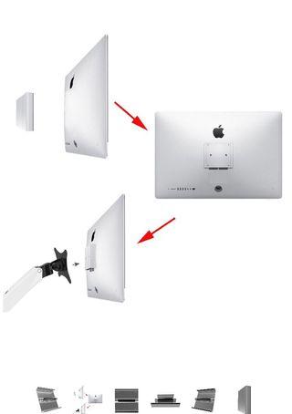 Adaptateur de montage iMac 24 pouces,Apple Led