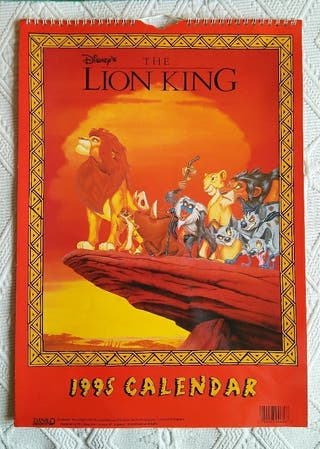 Calendario El Rey Leon 1995