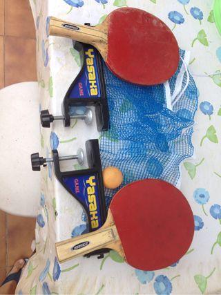 Red+ palas+pelotita de Ping pong