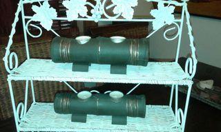 2 Portavelas d bambú