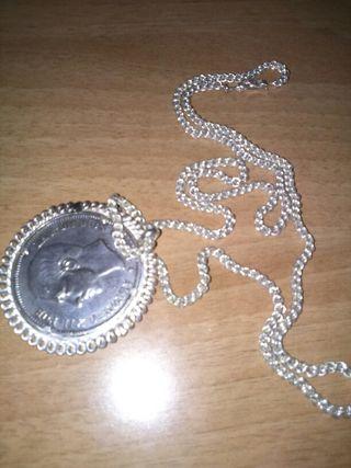 Moneda plata Alfons xii