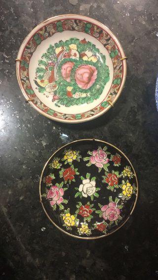 Conjunto 15 platos Porcelana China Y Japonesa Antiguos