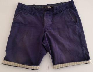Pantalón corto H&M azul