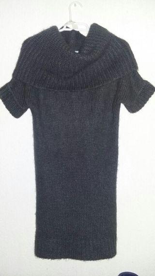 Tricot vestido de lana de Zara