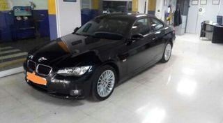 BMW 320, coupe, negro