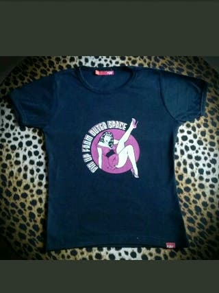 CAMISETA PIN UP FROM OUTER SPACE TALLA M de chica