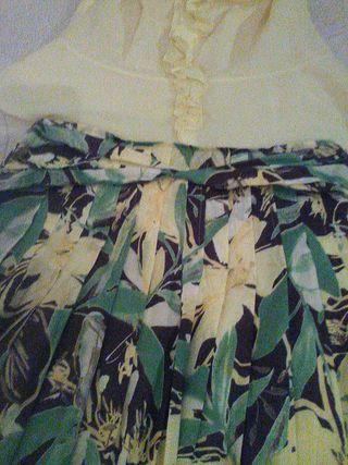 Conjunto falda blusa