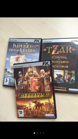Juegos PC estrategia: Imperium II, Patrician III.. segunda mano  España