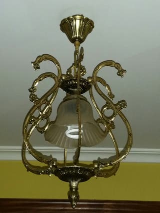 Lámpara vintage de bronce