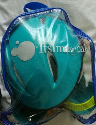 Conjunto patines+casco+proteccion+mochila plastica