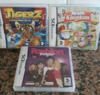 Pack de tres juegos nintendo ds