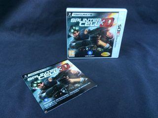 Spliter Cell 3DS_caja + manual instrucciones
