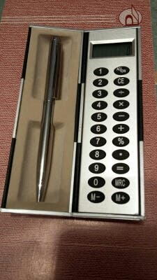 Conjunto calculadora + boligrafo