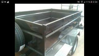 Remolque de carga y construcción de 250x155x75
