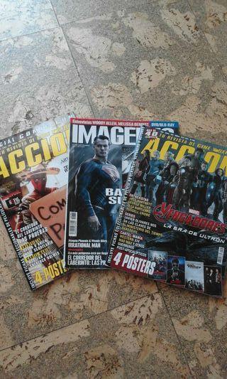 3 revistas de cine de Accion