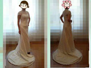 Vestido de novia de encaje.