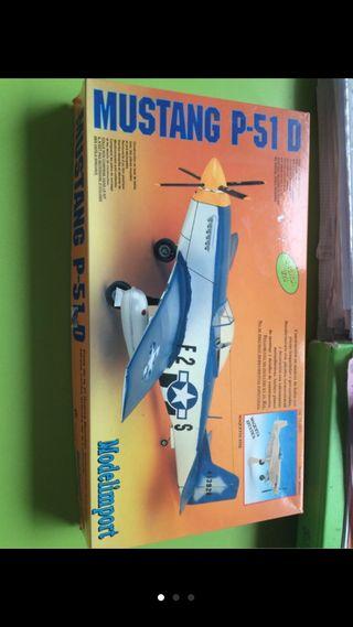 Maqueta avion mustang p 51 d