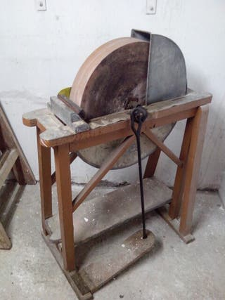 Antigua rueda afilador