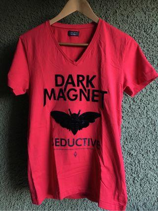 Camiseta Zara V cuello goth man dark hombre
