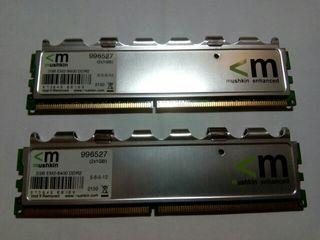 memoria RAM Mushkin ddr2 2x1 gb