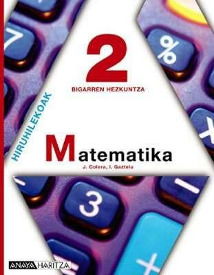 Libro de texto matematika 2 dbh matematicas 2 ESO 9788467814224