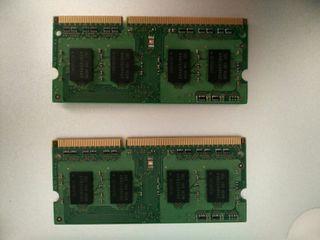 2 memoria RAM Samsung DDR3 2gb x2