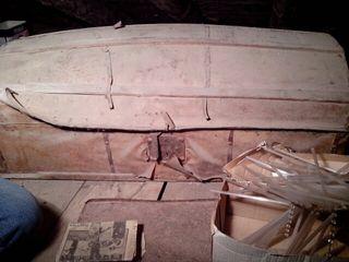 Antiguo baúl de madera y posible piel s. XIX a restaurar