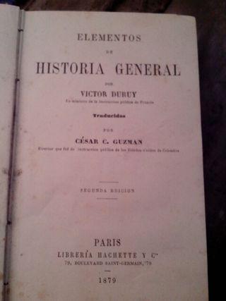 Libro Historia general por Victor Duruy año 1879