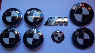 Pack 7 emblemas blanco y negro BMW