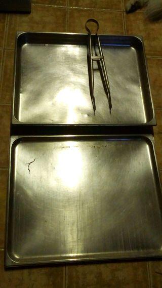 Bandejas de acero para buffet