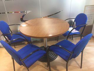 Mesa de reuniones y 4 sillas