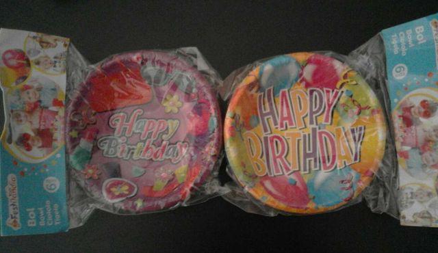 6 bols de cumpleaños