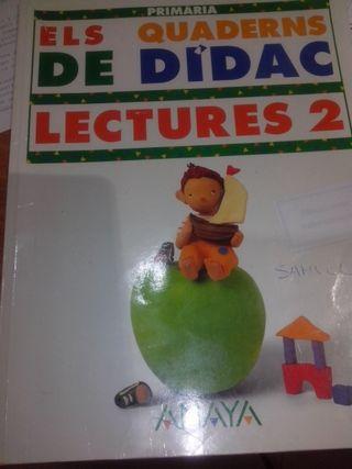"""LLIBRE PRIMARIA """"ELS QUADERNS DE DIDAC"""" LECTURES 2 ANAYA"""