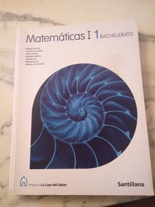 Libro matemáticas 1°Bachiller