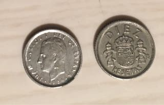 CAMBIO/VENDO. Monedas 10 pesetas 1983 y 1984