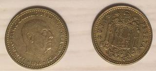CAMBIO/VENDO.Monedas 1 peseta 1966 (todos los años