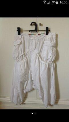 Pantalon lino blanco marca desigual