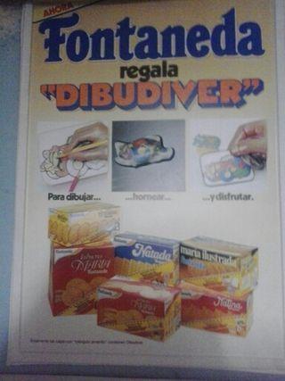 Cartel Galletas Fontaneda